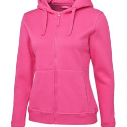 Ladies Full Zip Fleece Hoodie Thumbnail